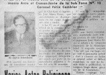 Ingeniero José María Ferro (1921-2008), intendente municipal de Chivilcoy, en la etapa del «Proceso de reorganización nacional», desde el 6 de mayo de 1976, hasta el 20 de mayo de 1981. Con anterioridad, había ocupado idéntico cargo, durante el período de facto, de la «Revolución Argentina», desde el 1 de diciembre de 1966, hasta el 25 de mayo de 1973.