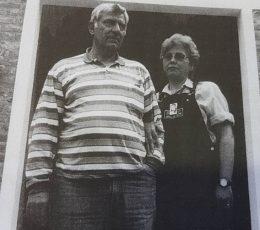 Los padres de Patricia Leiva, Juan Carlos Leiva y Carmen Ponce.