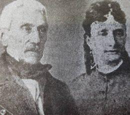 El General San Martín, en los últimos años de vida, junto a su hija, Mercedes Tomasa.