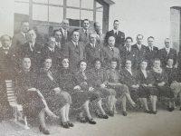 Cuerpo de profesores, del Colegio Nacional «José Hernández», en el año 1940.