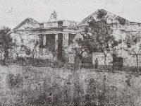 Antiguo edificio de la Escuela modelo de Chivilcoy, inaugurada el 1 de abril de 1866. La piedra fundamental,  de dicho establecimiento, se había colocado, un histórico día, 21 de octubre de 1860.