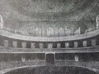 Interior, del imponente y majestuoso teatro Español, de la Asociación Española de Socorros Mutuos, inaugurado el 3 de septiembre de 1888.