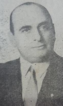 """El poeta chivilcoyano, Alberto E. Sciorra, y su libro """"Odisea gauchesca"""" (1948)."""