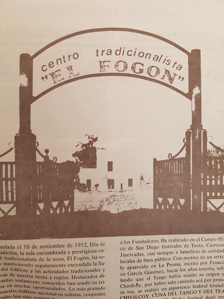 """El gran Centro Tradicionalista """"El Fogón"""" (1952)."""