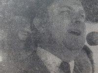 El Dr. Héctor Osvaldo Vázquez Fanego, usando de la palabra, el 12 de noviembre de 1980, durante el acto de imposición, de los nombres de Aime Tschiffely y Gato y Mancha, a las avenidas 84  y 17, de nuestra ciudad.