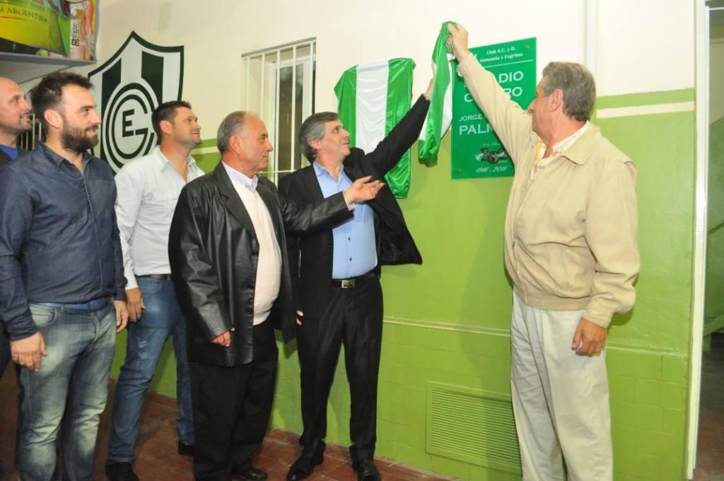 """Inauguración del Estadio Centro """"Dr. Jorge Francisco Palmieri"""", del Club Social y Deportivo """"Gimnasia y Esgrima"""" (1978)."""