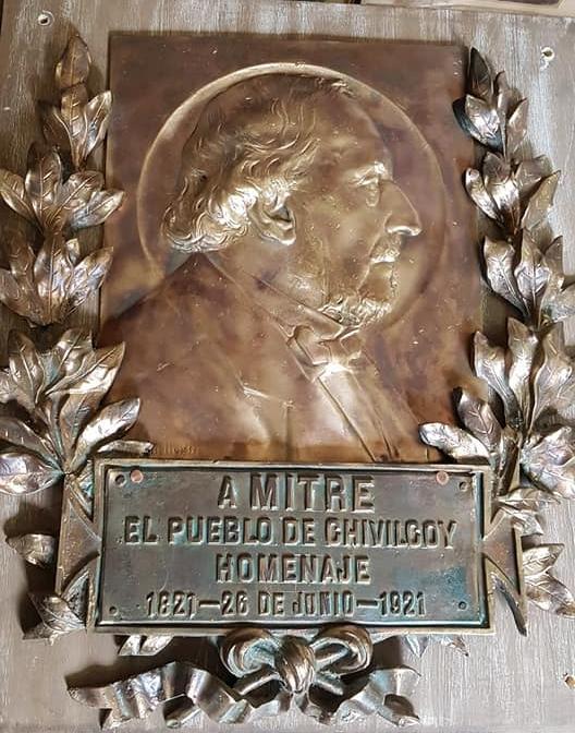 El homenaje de Chivilcoy, al general Mitre, en 1921.