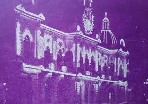 El Palacio Municipal de Chivilcoy, en una fotografía nocturna, de 1945.