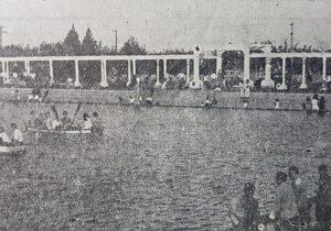 El ex Lago Artificial de Chivilcoy, en 1945.