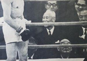 El destacado boxeador argentino, Horacio Accavallo, campeón mundial de boxeo, peso mosca, en el mes de marzo de 1966.