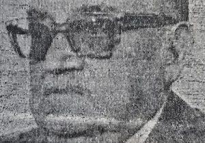 El gran escultor y docente chivilcoyano, profesor Antonio Bardi, nacido el 5 de mayo de 1909, y fallecido el 25 de mayo de 1988.