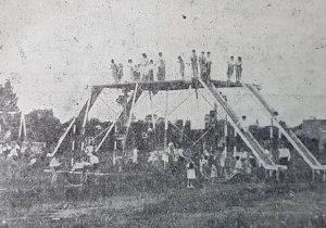 El ex Parque Infantil de Chivilcoy, situado frente al Lago Artificial, en 1945.
