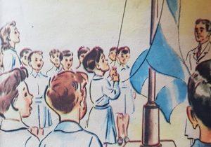 28468165_2070755696300Láminas e ilustraciones, de diferentes libros de lectura, del ciclo primario, correspondientes a las décadas de 1950 y 1960.