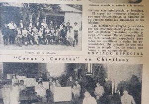 """La Estancia """"La Dormilona"""", de la familia Birabent, en una nota periodística, aparecida, en la revista porteña """"Caras y Caretas"""", hacia el mes de noviembre de 1934."""