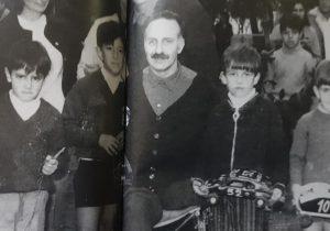 El acompañante de Farabollini, Horacio Alice, a quien hubieron de amputarle una pierna, a raíz del trágico accidente, del 12 de agosto de 1962.