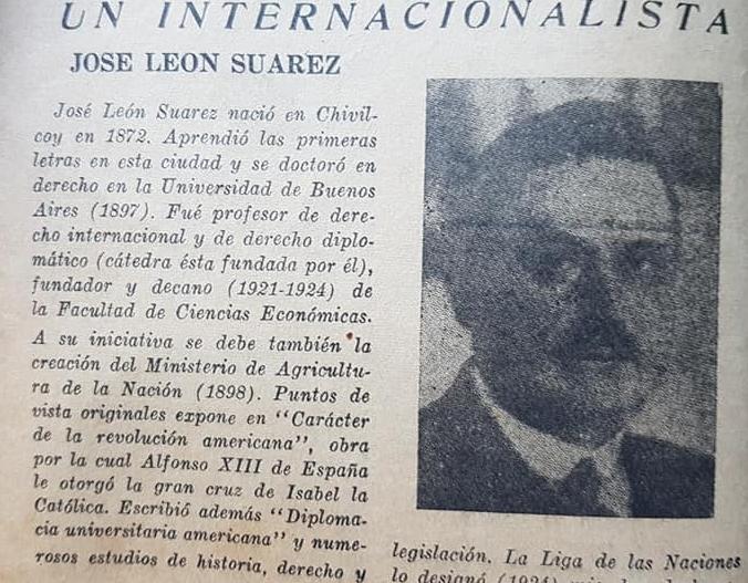 El homenaje al Dr. José León Suárez, en Chivilcoy, en abril de 1934.