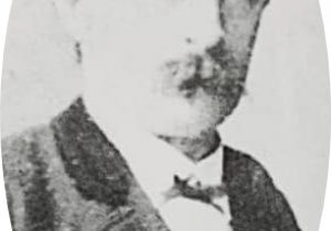 Don Carlos Augusto Fajardo (1830-1920), primer escribano público de Chivilcoy, e integrante, de la Corporación Municipal, en 1866.