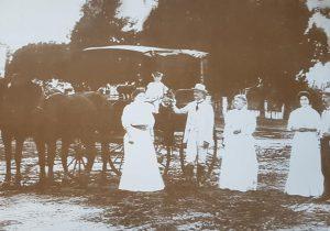 Una fotografía de la Estancia «Las Palmeras», hacia el año 1900.