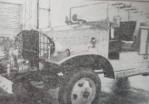 Autobomba inicial, del cuerpo de Bomberos Voluntarios de Chivilcoy, que data del año 1947.