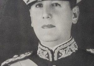 El General Juan Domingo Perón, electo en los comicios del 24 de febrero de 1946, quien asumió, por vez primera, el cargo de presidente de la Nación, el 4 de junio de ese mismo año, 1946.