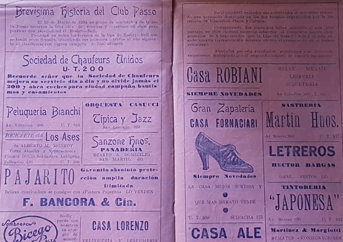 Un festival teatral, del año 1940, organizado por el Club Paso