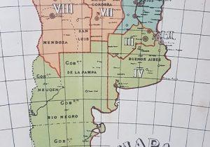 """El mapa de la República Argentina, publicado en la """"Cartilla Militar"""", del año 1907. En él, puede observarse, ubicada en la región geográfica norte del país, la entonces existente """"Gobernación de los Andes"""", la cual ocupaba, el actual territorio, de la provincia de Salta."""