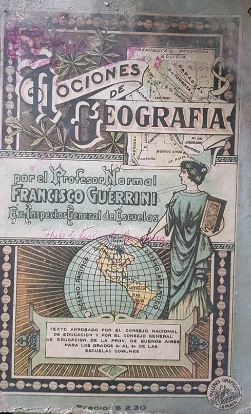 El Partido y la ciudad de Chivilcoy, en libros de geografía, de diferentes épocas