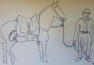 Dibujos, del diestro y estimable dibujante chivilcoyano, Carlos Mauricio Rodríguez Lenti (1924-1999), quien utilizaba el seudónimo artístico, de «Camarol».