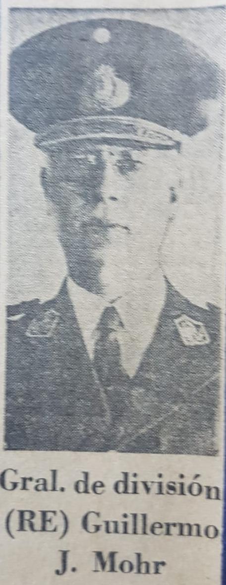 """El general de división, chivilcoyano, Don Guillermo José Mohr, y el certamen literario """"General Manuel Belgrano"""", de los años 1970 y 1971."""