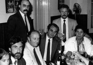 Distintos periodistas chivilcoyanos, en una cálida y fraternal reunión de camaradería.