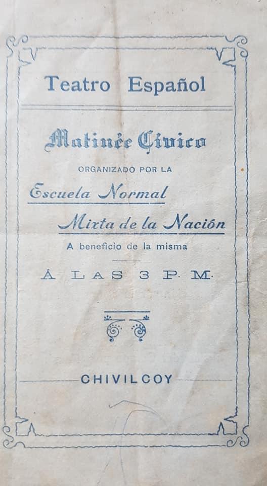 """Una """"Matinée Cívica"""", de la Escuela Normal de Chivilcoy, del 9 de Julio de 1913."""