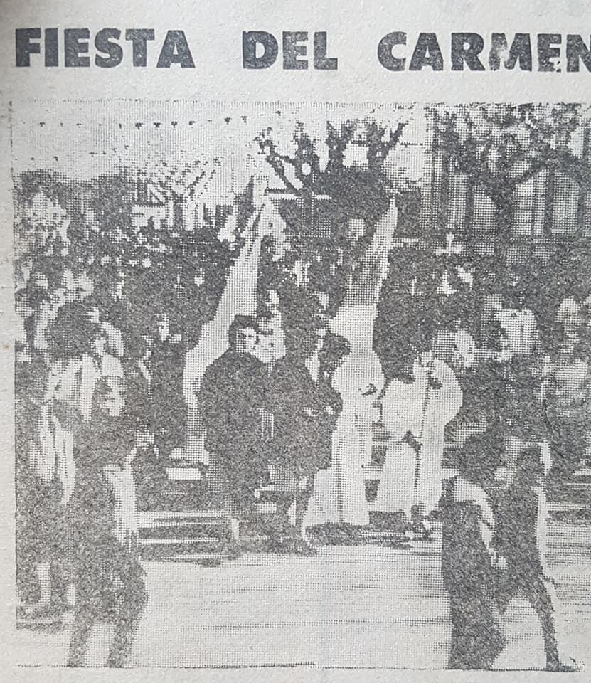 La celebración de la festividad del Carmen, de 1983