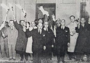 Velatorio emblemático, de los restos de Eva Duarte de Perón, aquí, en Chivilcoy, en julio de 1952.