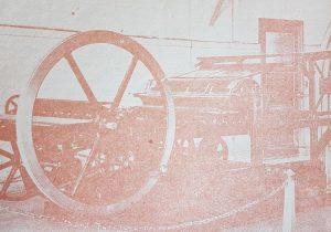 Primera máquina impresora -primitiva plana-, del diario «La Razón», fundado el miercoles 16 de noviembre  de 1910