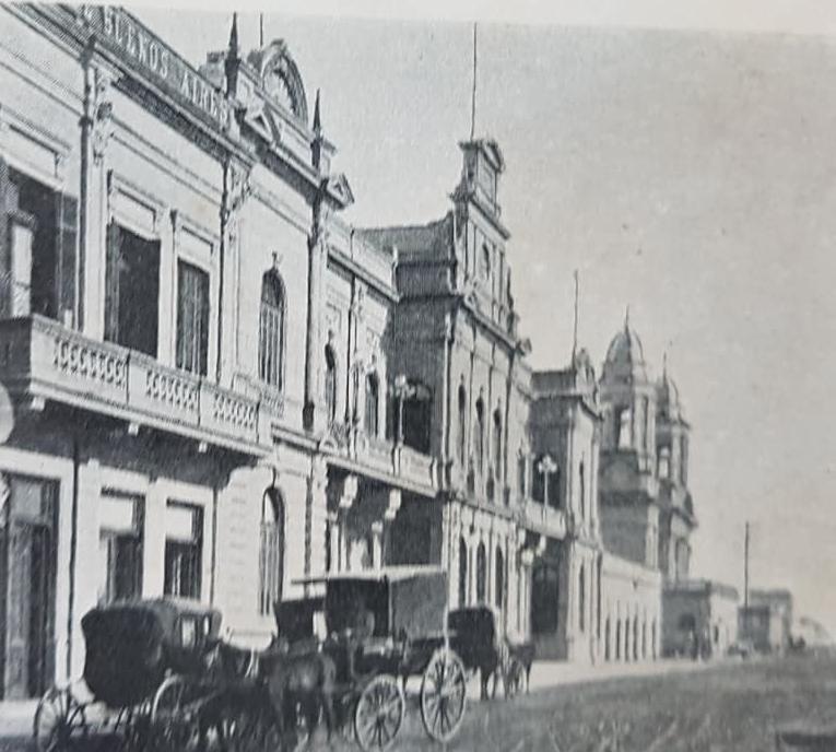 La ciudad de Chivilcoy, en un Atlas de la República Argentina, de principios del siglo XX.