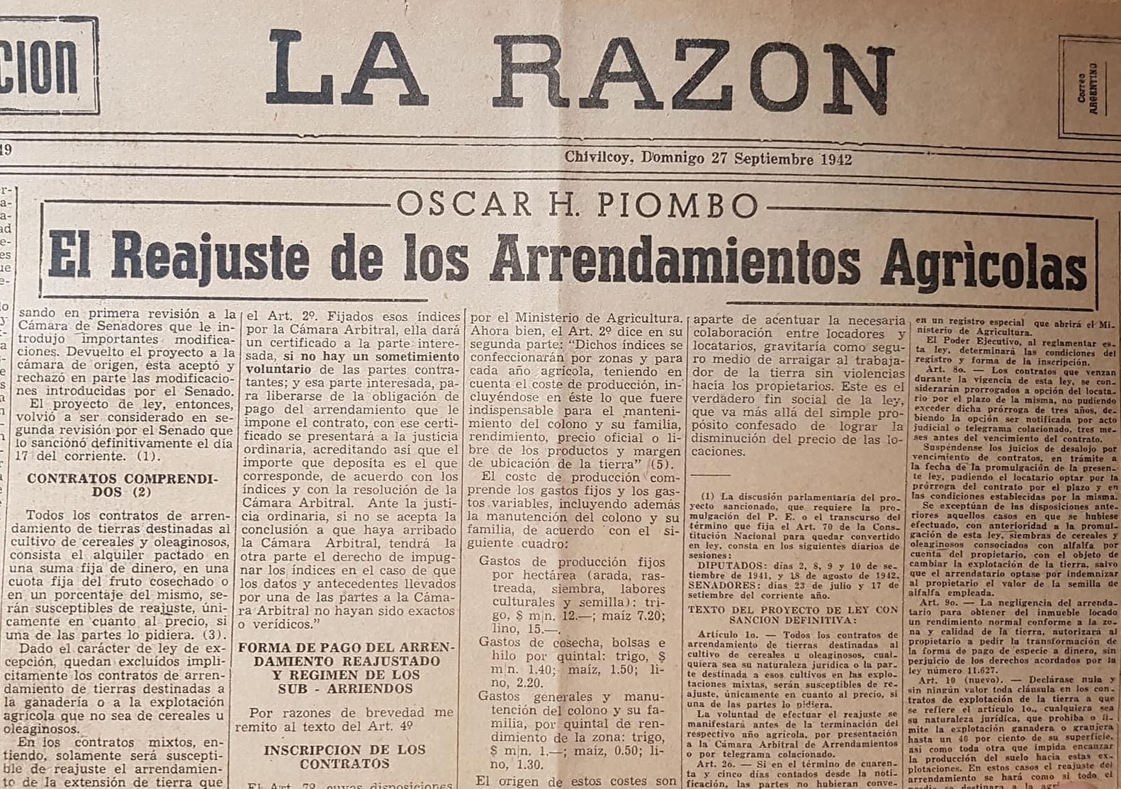 Recordando al procurador, Dr. Oscar Horacio Piombo