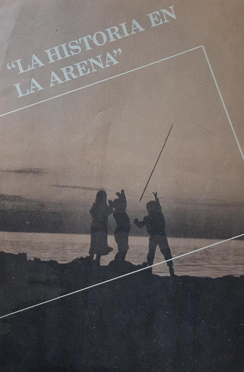 """Una película documental """"La Historia en la arena"""", rodada en Chivilcoy, hacia 1986."""