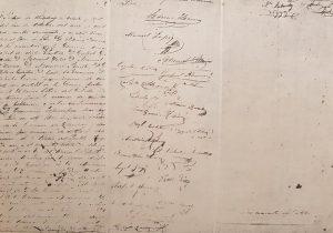 Facsímil del Acta de Fundación, de nuestra ciudad bonaerense de Chivilcoy, redactada por Don Manuel Villarino, aquel histórico y memorable, domingo 22 de octubre de 1854.