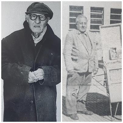 Dos inolvidables personajes chivilcoyanos: Bartolo y Capacho.
