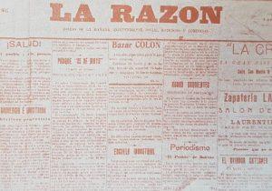 Primer número, del matutino «La Razón» de Chivilcoy, que data del miércoles 16 de noviembre de 1910.