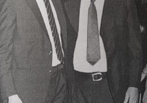 Don Edgar Ángel Frigolí, junto al ex intendente municipal, Dr. Jorge Adalberto Juancorena.
