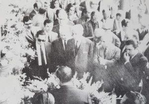 Homenaje tributado, al Dr. Alejandro Osvaldo Suárez, el 6 de noviembre de 1968, con motivo de los 25 años, de su desaparición física. En dicha ceremonia, participaron los doctores Arturo Umberto Illia, ex presidente de la Nación, entre 1963 y 1966; Carlos H. Perette, ex vicepresidente de la República desde 1963 hasta 1966, y Ricardo Balbín, presidente de la Unión Cívica Radical.