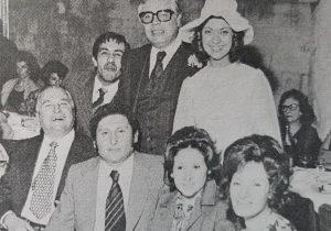 Don Edgar Ángel Frigolí, en compañía de su esposa María Isabel Vilar, el día de su matrimonio, en 1975.