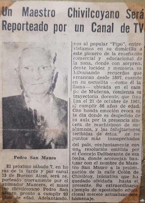 La Academia de Ciencias Comerciales, del ilustre y glorioso maestro, Don Pedro Nicolás San Mauro (1875 – 1973).