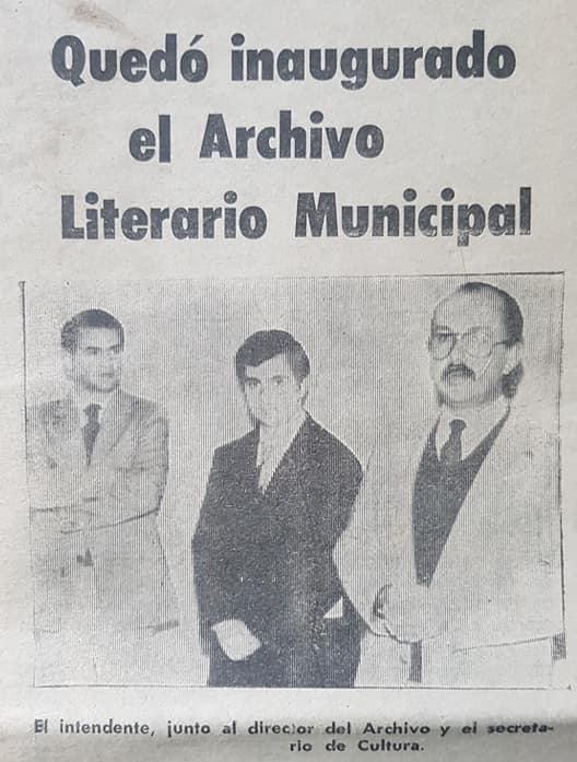 """Recordando a Carlos Alberto """"Chango"""" Ayarza (1942 – 2019), ex secretario de Cultura, de la Municipalidad de Chivilcoy."""