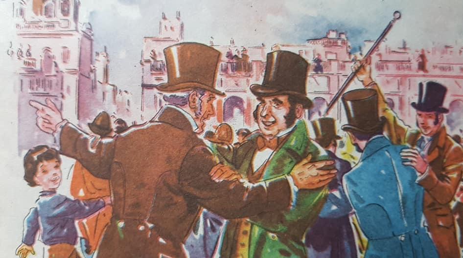 La primera celebración en Chivilcoy, del 25 de Mayo de 1856.