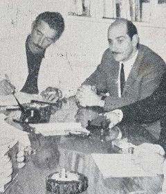 El ingeniero Frascini, integró el consejo directivo, de la Agencia Cooperativa de Extensión, del Instituto Nacional de Tecnología Agropecuaria (INTA), de Chivilcoy. Aquí lo vemos, en una reunión de dicha Agencia, a través de una fotografía del año 1965.