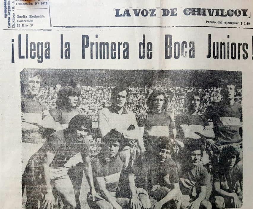 La visita del equipo de Primera División de Boca Juniors, a Chivilcoy, el martes 22 de octubre de 1974, para la celebración del 120 aniversario de nuestra ciudad.