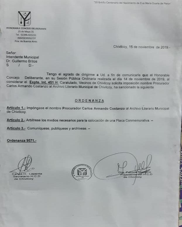 ARCHIVO LITERARIO MUNICIPAL: Noticias y poemas lunfardos.