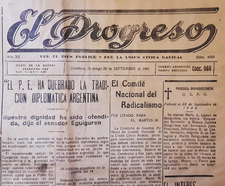 """El firme y valeroso diario """"El Progreso"""", y su memorable director, el ferviente y singular periodista, Constantino Antuña (1908 – 1960)."""